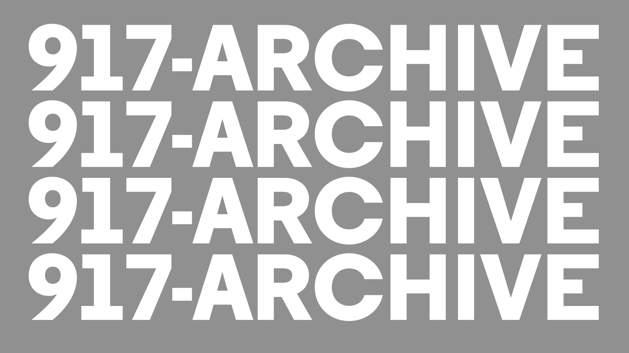 917-ARCHIVE → Catalog Exploration